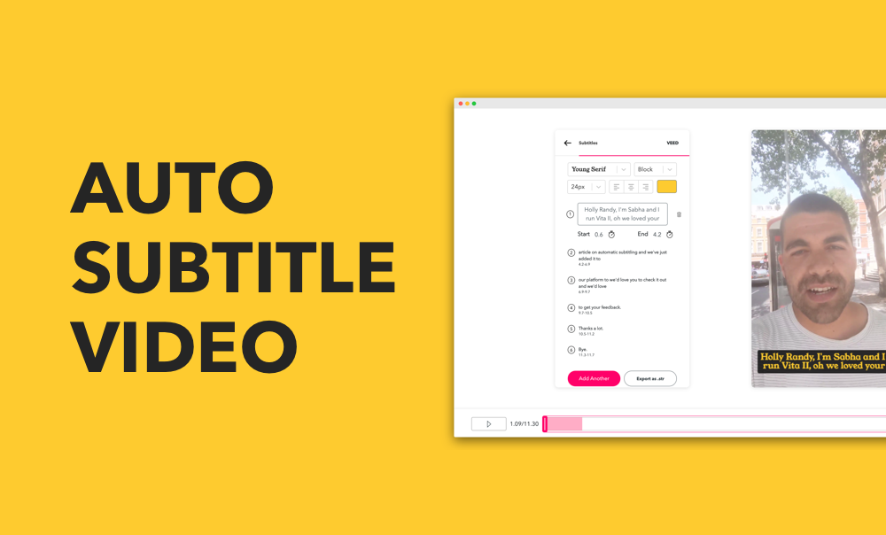 How to automatically add subtitle to a video