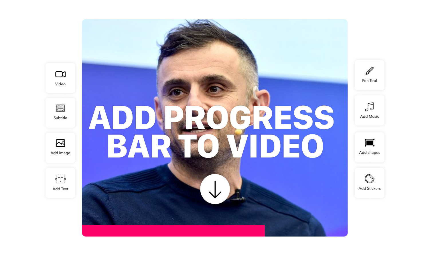 How to add a progress bar to video