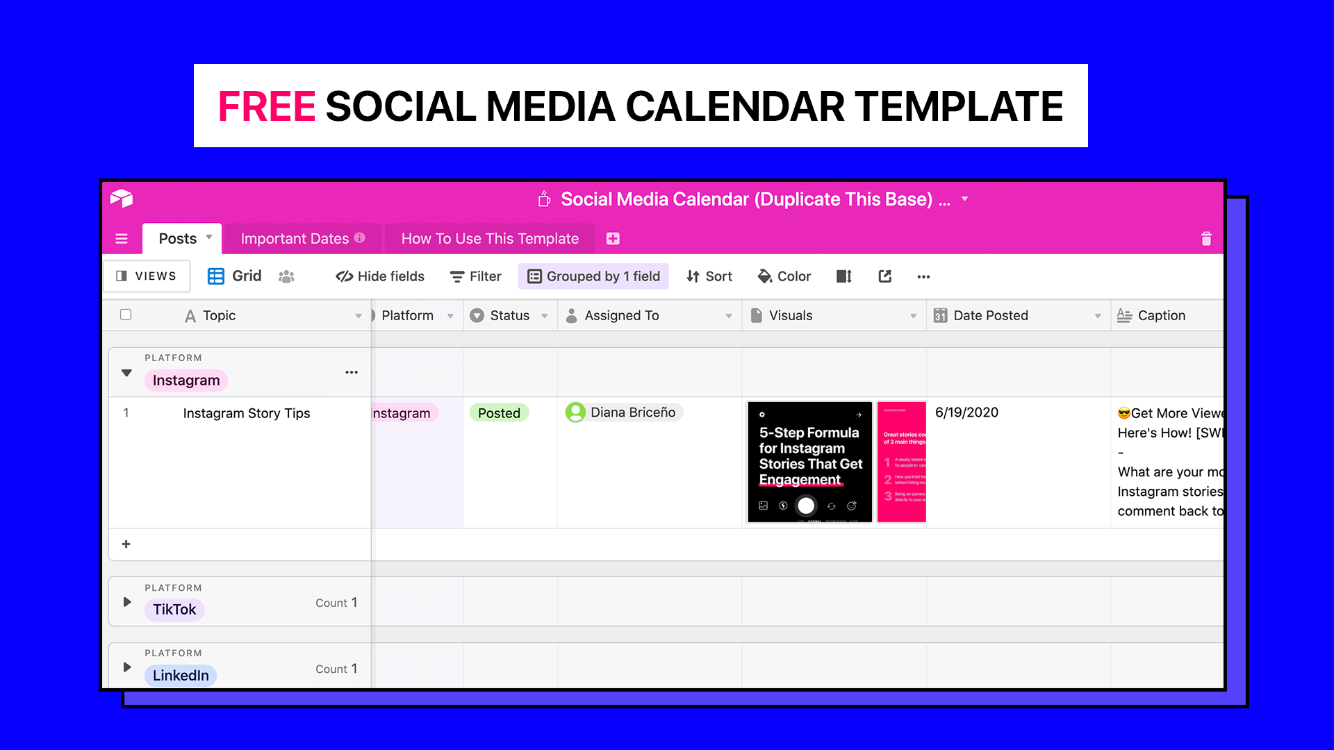 The Only Social Media Calendar Template You'll Ever Need