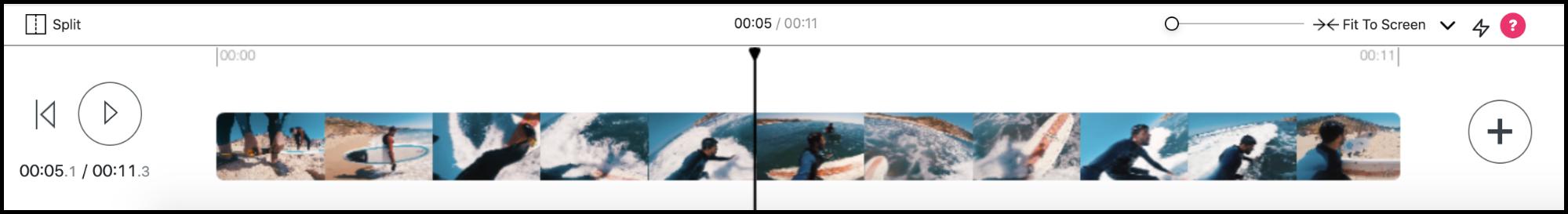 video timeline playhead