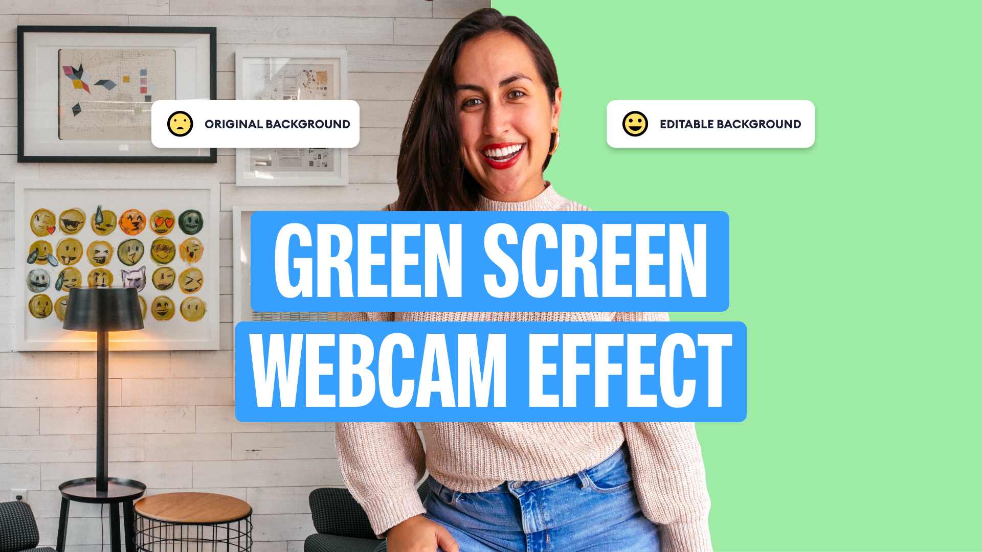 How to Create a Green Screen Video Effect Using a Webcam
