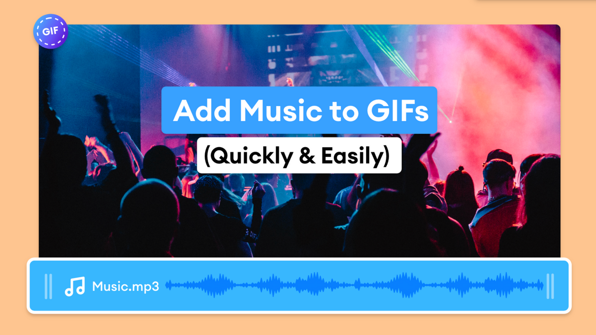 How to Add Music to GIF Online For Free (Super Simple)